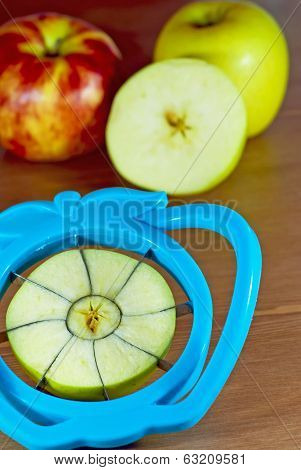 A Cored And Sliced Apples