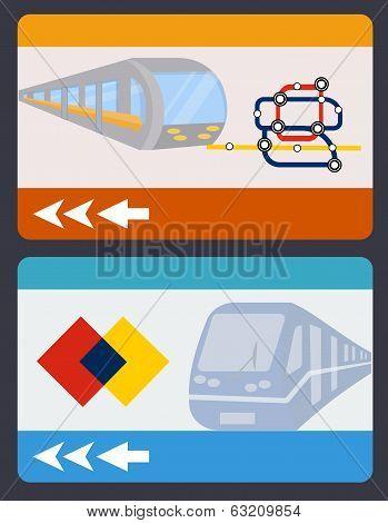 metro or subway card