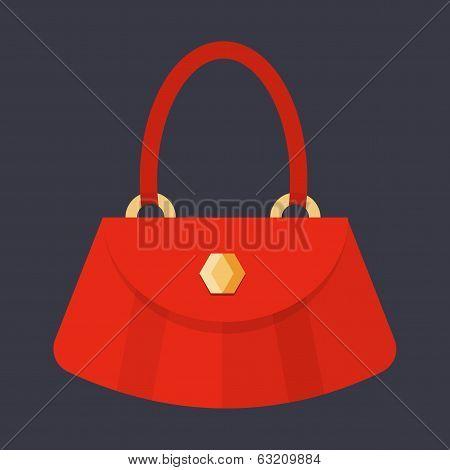 Women's handbag flat illustration