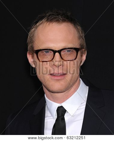 LOS ANGELES - APR 10:  Paul Bettany arrives to the 'Transcendence' Los Angeles Premiere  on April 10, 2014 in Westwood, CA