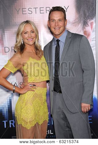 LOS ANGELES - APR 10:  Cole Hauser & Cynthia Daniel arrives to the 'Transcendence' Los Angeles Premiere  on April 10, 2014 in Westwood, CA