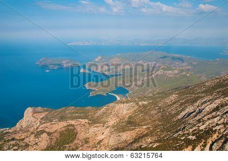 Panoramic Bird's-eye View On Turkey, Oludeniz, Mediterranean