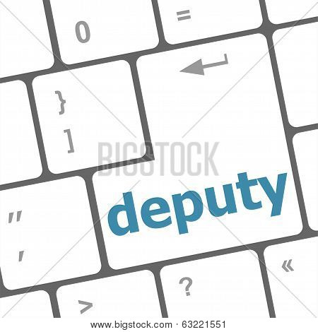 Social Concept: Computer Keyboard With Word Deputy