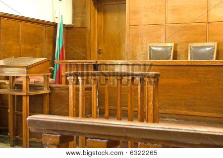 Court Bench Close-up