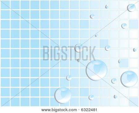 Blue Tile Water Droplet Background 2