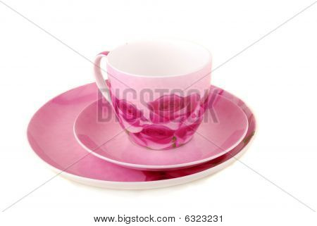 Pink Cup And Saucer