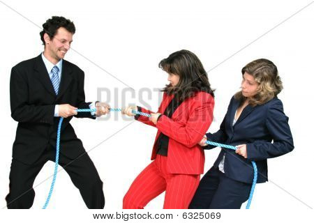 Businesswoman Boss With Rope