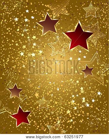 Gold Foil With Stars
