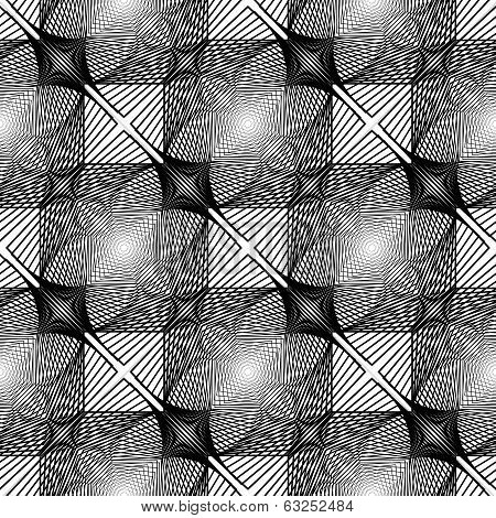 Design Seamless Monochrome Square Geometric Pattern