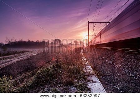 Sunrise Whit Train