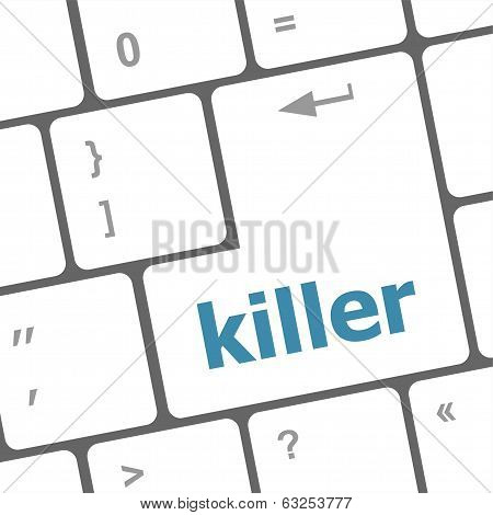 Killer Computer Keyboard Key Button