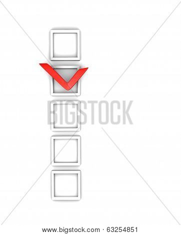 check boxes and check mark