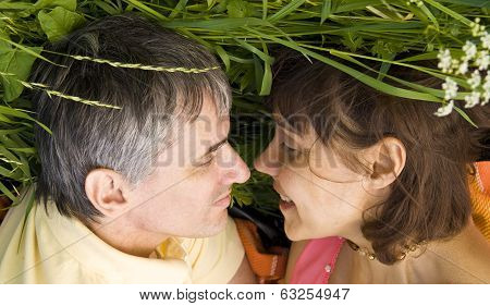Lovers On Grass