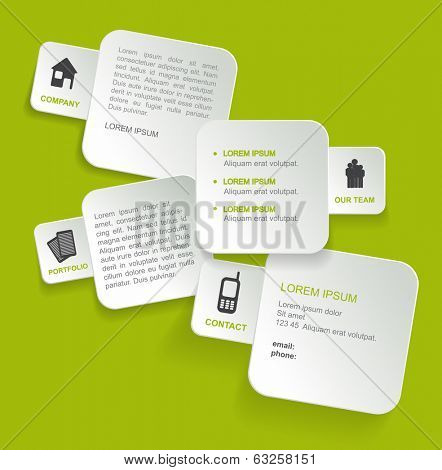 Vector background concept design for brochure or website. Can be used also for flyer, poster, cover and other print.