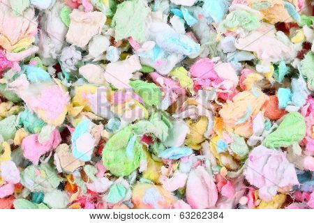 Colorful paper pet litter