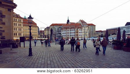 Frauenkirche square of Dresden