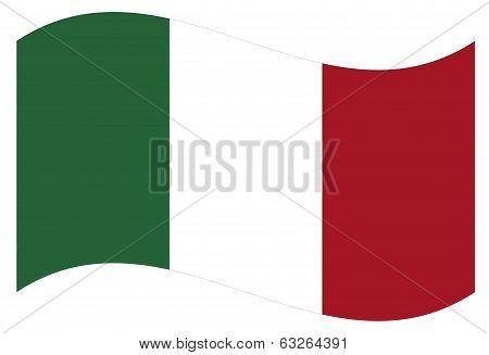 Vector flag. Italy