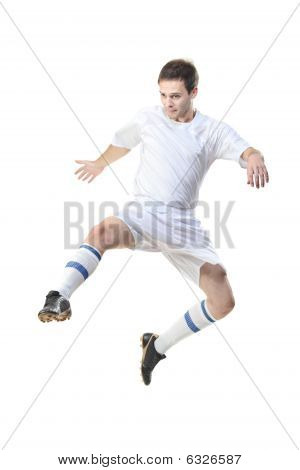 Football Player In Jump