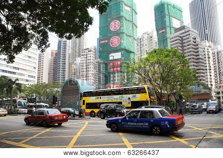 Hennessy street of Wanchai