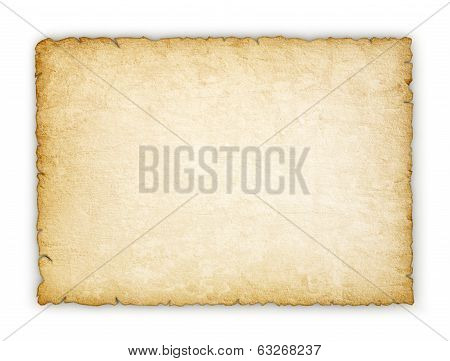 Vintage paper on an isolated white background
