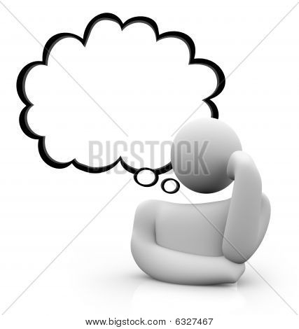 Thought Bubble - Thinking Person