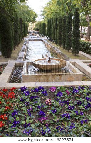 Garden In A Park On The Island Of Mallorca Spain