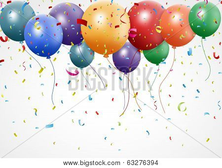 New Birthday celebration with balloon and ribbon