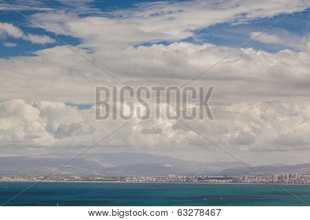 Cloudscape Over The Sea