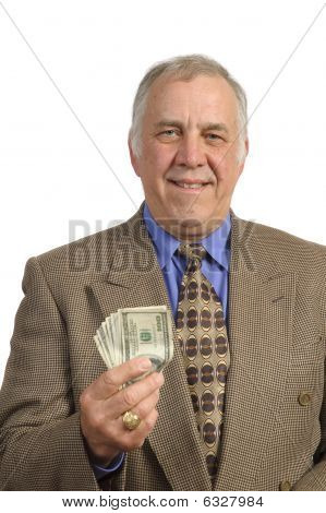 Smiling Older Businessman