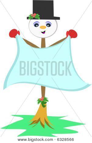 Snowman Broom Stick
