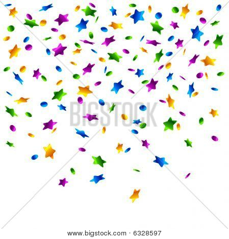Rain of confetti. Vector.