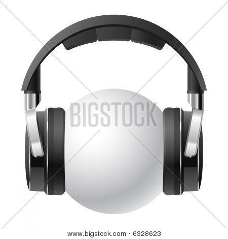 Headphones. Vector illustration.