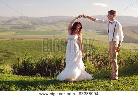 African Bride And Groom Landscape