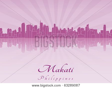 Makati Skyline In Purple Radiant Orchid