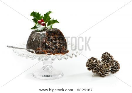 Serving Of Christmas Pudding