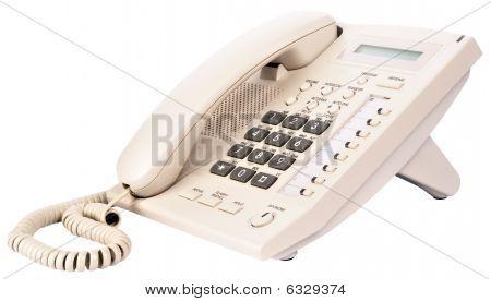 Office Digital Telephone On White