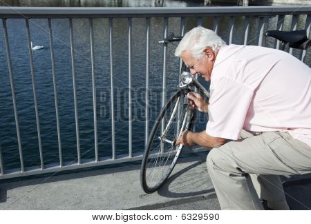 Man With Bicycle.