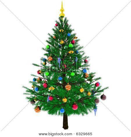 eingerichteten Weihnachtsbaum