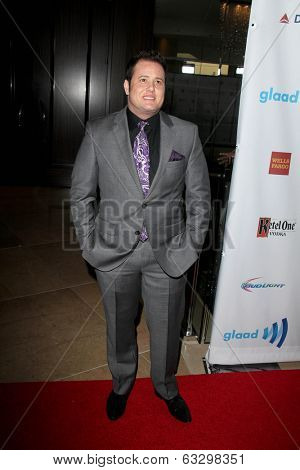 LOS ANGELES - APR 12:  Chaz Bono at the GLAAD Media Awards at Beverly Hilton Hotel on April 12, 2014 in Beverly Hills, CA