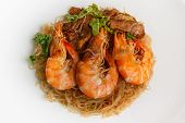 picture of glass noodles  - Steamed Glass Noodles with Shrimp popular Thai food - JPG