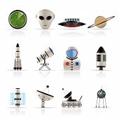 Astronautics and Space Icons