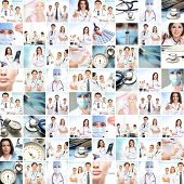 image of work crew  - Medical collage - JPG