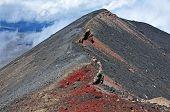 foto of tramp  - Mount Ngauruhoe summit - JPG