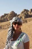 Tourist In Arabic Kerchief poster