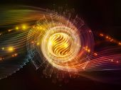 stock photo of sine wave  - Atomic series - JPG