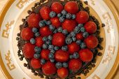 Topping - Strawberries And Blueberries
