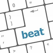 Beat Word On Keyboard Key, Notebook Computer Button