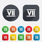 pic of roman numerals  - Roman numeral seven sign icon - JPG