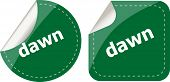 Dawn Word Stickers Web Button Set, Label, Icon