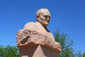 Постер, плакат: Statue of Sergey Korolev in Baikonur